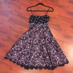 Betsey Johnson Rose and Lace Dress